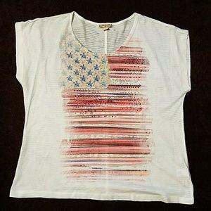 Americana embellished tee